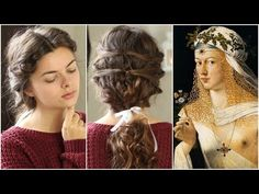 In this episode of Beauty Beacons we're going to have a look at the renaissance femme fatale, Lucrezia Borgia. Not only her rumoured murderous and incestuous. Bohemian Hairstyles, Bride Hairstyles, Pretty Hairstyles, Updo Hairstyle, Hairstyle Ideas, Renaissance Hairstyles, Historical Hairstyles, Renaissance Fashion, Bohemian Wedding Hair