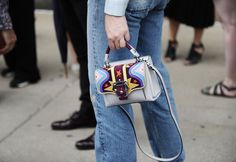 Pin for Later: You're About to Obsess Over NYFW's Best Street Style Accessories Day 3 Paula Cademartori bag.