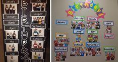Nádherné spôsoby ako vystaviť dátumy narodenín žiakov v triede, aby sa na nikoho ani náhodou nezabudlo. Tabuľa, nástenka narodenín detí v škole
