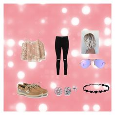 """""""Fun Time"""" by lupe385001 ❤ liked on Polyvore featuring MANGO, Boohoo, Sperry, Ray-Ban and BERRICLE"""