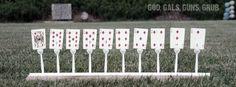 God, Gals, Guns, Grub: Five-Bucks: Plastic Fork Target Stands