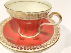 Captivating Aynsley Tea Cup and Saucer Gold by AprilsLuxuries