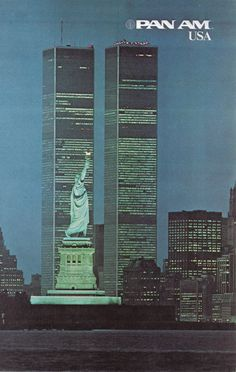 Pan Am USA Travel Poster