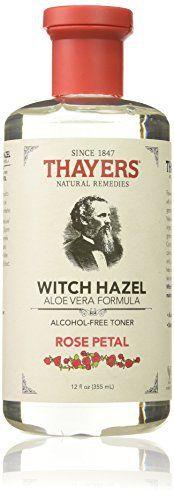 Thayers.co – Extrait de Pétales de Rose et d'Hamamélis avec Aloès Vera – sans Alcool – 355 ml: The first alcohol free witch hazel product…