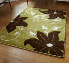 Verona OC15 Green And Brown Rug