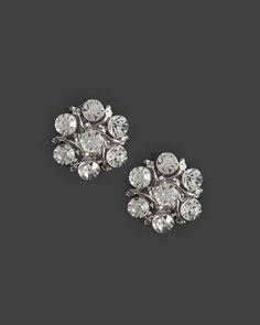 bebe | Crystal Cluster Leaf Stud