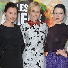 Virginie Ledoyen, Diane Kruger and Lea Seydoux The Premiere of 'Farewell, My Queen'.