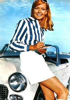 1970 Susan Blakely in classic Ivy League style