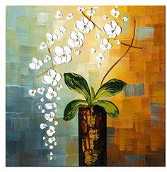 Wieco Art - Beauty of Life 100% Hand-painted Modern Flowe...