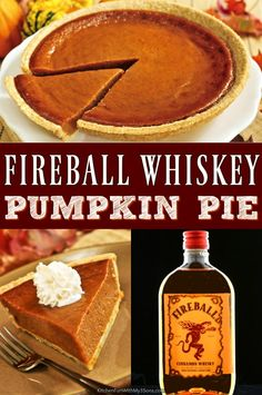 Fireball Whiskey Pumpkin Pie adds a kick to your Thanksgiving day festivities. Perfect for a Friendsgiving celebration! Fireball Whiskey Pumpkin Pie adds a kick to your Thanksgiving day festivities. Perfect for a Friendsgiving celebration! What Is Pumpkin Spice, Easy Pumpkin Pie, Pumpkin Pie Recipes, Canned Pumpkin, Pumpkin Pie Custard Recipe, Is Pumpkin A Fruit, Bread Recipes, Pancake Recipes, Rice Recipes