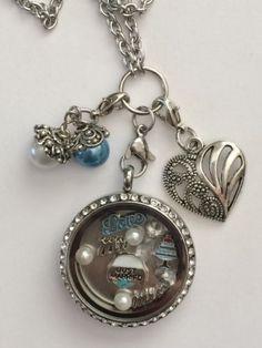 Wedding Day Mr & Mrs Inspired Memory Locket Necklace