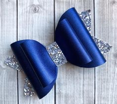 Hair clips 812125745290427441 - Your place to buy and sell all things handmade Navy and Silver Glitter Bow Hair Clip, Girls Hair Clip, Glamour Hair Bow, Navy Hair Bow, Photo Prop Source by Ribbon Hair Bows, Diy Hair Bows, Bow Hair Clips, Bow Clip, Ribbon Flower, Navy Hair, Blue Hair Bows, Glamour Hair, Hair Bow Tutorial