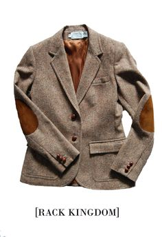 """justavailable: """" Women's Blazer, Size 6. Free US Shipping.(via Rack Kingdom — Wool Blazer with Suede Elbow Patches) """" you belong to me…. if I was a 6."""