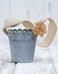 Hey, I found this really awesome Etsy listing at https://www.etsy.com/listing/127661797/burlap-flower-girl-bucket-rustic-cottage