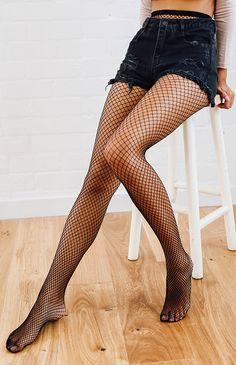 Skye Fishnet Stockings - Black from peppermayo.com
