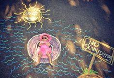 sidewalk chalk photos