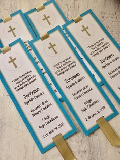 Primera Comunión Communion Prayer, First Holy Communion, First Communion Invitations, Baptism Decorations, Easy Gifts, Gender Reveal, Sunday School, Bookmarks, Baby Shower