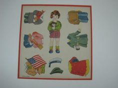Vintage Uncut Paper Dolls Made in Japan Young Girl Holding Puppy Dog with Outfit