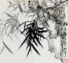 Oriental Painting - Leaf E by Rang Tian