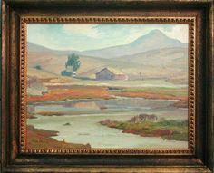 "Aaron Kilpatrick (1872-1953) Back Bay, Morro Bay, O/C, 14"" 18"", signed"