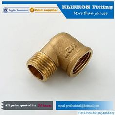 Brass Fittings or Brass plimbing Fittings come in many different types and sizes.When it comes to Brass Plumbing Fittings, Klikkon's got your back. installations, and other plumbing applications where yellow brass cannot be used. Straight Pipe, Brass Fittings, Water Supply, Plumbing, Improve Yourself, Things To Come, Metal, Pipes