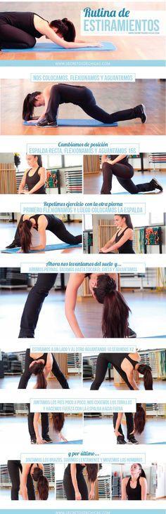 Rutina de estiramientos para después del ejercicio