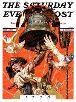 Ringing Liberty Bell J.C. Leyendecker July 6, 1935