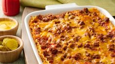 Combine the fantastic flavors of lasagna and cheeseburgers in an ooey-gooey good casserole!