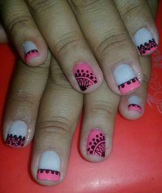 Bella Nails, Manicure Y Pedicure, Veronica, Nail Designs, Nail Polish, Nail Art, Beauty, Ideas, Nail Design