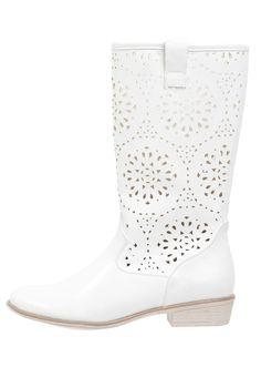 Anna Field Cowboy/Biker boots - white - Zalando.co.uk