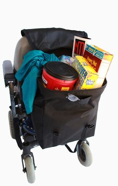Large accessories bag for wheelchair