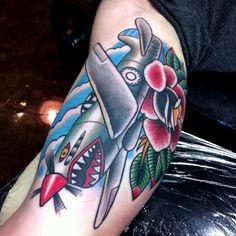 P-40 Tiger Shark Myke Chambers by Myke Chambers Tattoos,