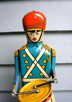 1950's Drum Major wind up toys in my shop on etsy