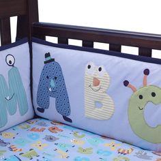 Alpha Baby 4-Piece Crib Bumper