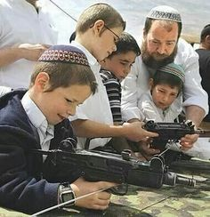 Just to be clear....those are Israeli kids! People will say....oh that's cute, but if you see a Muslim kid like this....the news will be....oh my God terrorists!