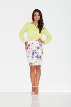 Pencil skirt in floral pattern