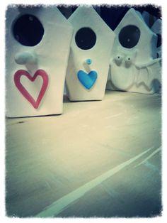 Casette per uccellini in ceramica, 100% artigianato italiano, a breve tutte su Etsy, LabLiu