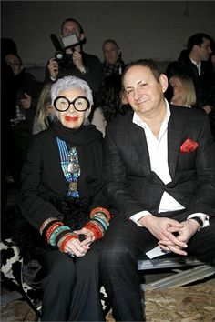 At the age of 91 Interior Designer/Fashion Icon Iris Apfel is 'working it' at the recent New York Fashion Week.