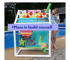 Pool Towel Rack Ideas jakie rich another storage idea for around the pool would be really cute Big Fall Sale Plans To Build 5 Bar Towel Rack By Towelmaid On Etsy 999