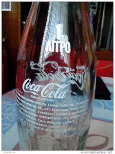 RRRR RARE VINTAGE 1 LITRE COCA COLA SODA BOTTLE GREECE 1972 PERFECT COLLECTABLE…