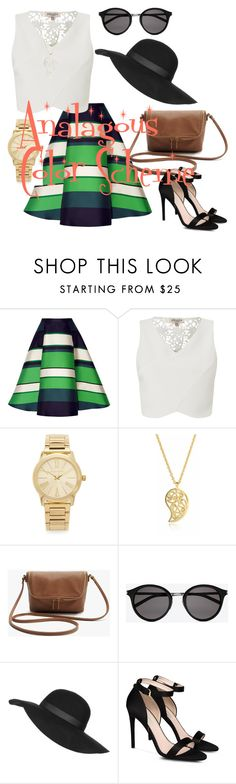 """Miss Radford Analgous Outfit"" by kelli-rachelle-radford on Polyvore featuring Lanvin, Lipsy, Michael Kors, Sonal Bhaskaran, Yves Saint Laurent, Topshop and STELLA McCARTNEY"