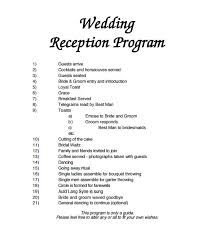 Luxury Wedding Reception Agenda Sample Koeleweddingcom Wedding Reception Program Wedding Reception Program Sample Wedding Program Samples