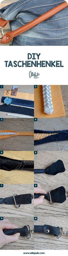 Mit diesem DIY-Tutorial kannst du jetzt tolle Taschenhenkel selber machen und jede selbst genähte Tasche aufwerten.