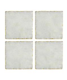 Marble With Golden Trim Coaster Set   Stock your bar with these elevated pieces before hosting your next soirée.