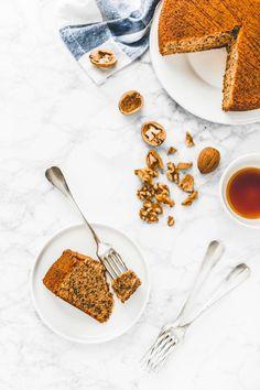 ricetta torta alle noci, torta alle noci e arance, walnut and orange cake recipe, walnut cake recipe Easy No Bake Desserts, Best Dessert Recipes, Easy Desserts, Cake Recipes, Pavlova, Cheesecake Oreo, Sauce Creme, Mousse, Trifle Pudding