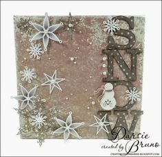 Crafting with Darsie: Snow Canvas...