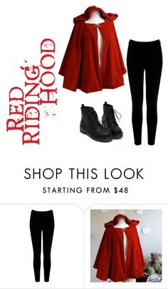 """""""Red Riding Hood"""" by cookiesrule21 ❤ liked on Polyvore featuring Warehouse"""