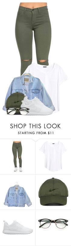 """Is this cute "" by l-ondonbridge ❤ liked on Polyvore featuring H&M and NIKE"
