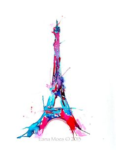 Eiffel Tower Watercolor Paris Illustration 9 x 12 by LanasArt, $75.00  https://www.etsy.com/listing/154245585/eiffel-tower-watercolor-paris?ref=sr_gallery_32ga_search_query=eiffel+towerga_order=most_relevantga_ship_to=ZZga_ref=auto1ga_search_type=allga_view_type=gallery
