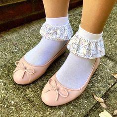 Ballerina Flats, Ballet Flats, Girls Wear, Sock Shoes, Tights, Socks, Lingerie, Pretty, How To Wear